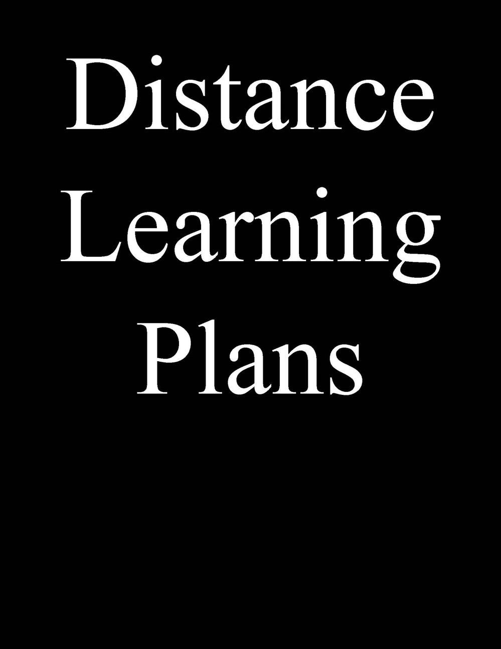 Stratton Elementary Distance Learning Plan